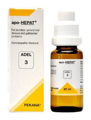 ADEL 3 apo-Hepat homeopathic medicine for jaundice, liver & gall bladder problems. fatty liver treatment in homeopathy
