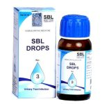 SBL Drops No 3 for symptoms of UTI