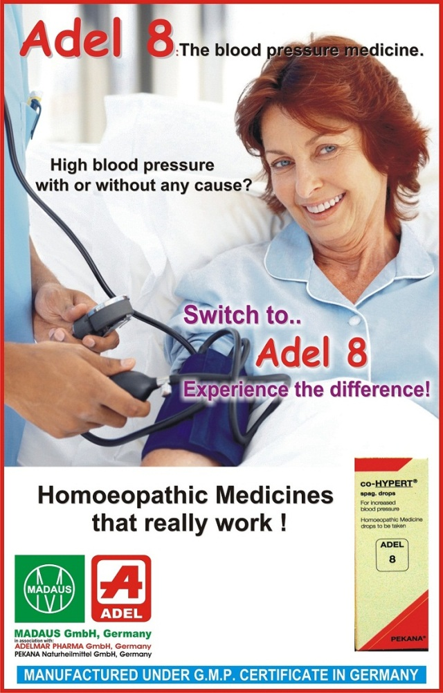 Adel 8 homeopathy drops for normal blood pressure