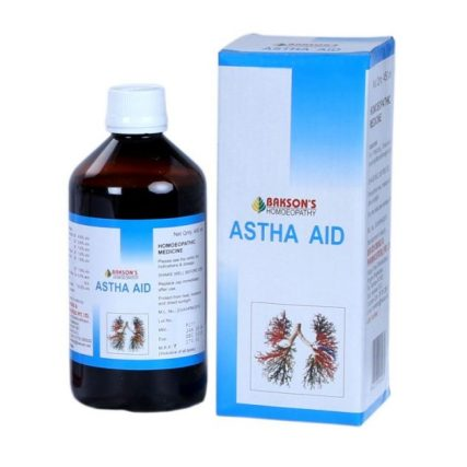 baksons astha aid syrup for asthma, whooping cough, homeopathic expectorant