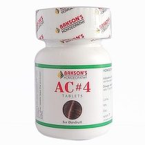 Baksons AC4 Tablets- homeopathy medicine for dandruff free hair