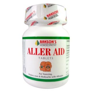 Bakson Aller Aid Tablets fights allergic rhinitis (hayfever), running nose, sneezing, bodyache, allergies