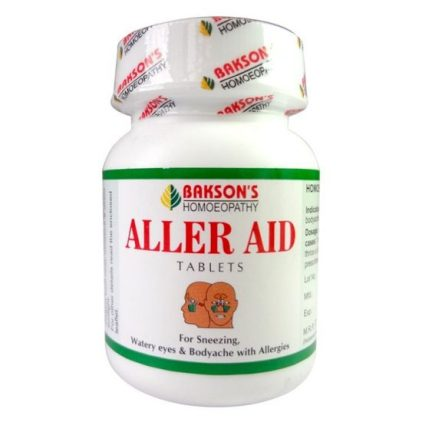 Bakson Aller Aid Tablets fights allergic rhinitis (hayfever), running nose, sneezing, bodyache, allergies