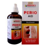 Bakson Perio Aid mouth wash for bad breath, mouth ulcers