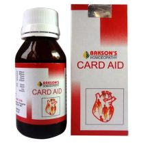 Bakson Card Aid Drops - Homeopathy Heart medicine for Angina, Arrhythmia, Hypertrophy of heart, Cardiac dropsy, Coronary Heart Disease