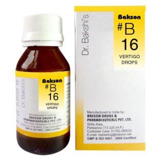 Dr. Bakshi B drops, Baksons B16 drops (Vertigo)