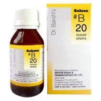 Dr. Bakshi B drops, Baksons #B20 (Sugar Drops)