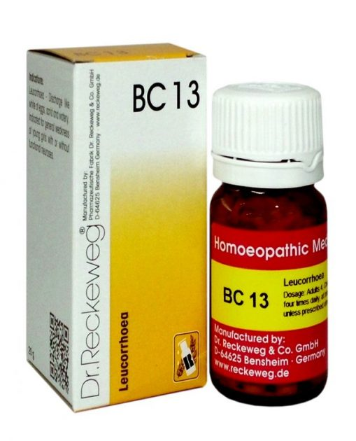 Dr Reckeweg Biochemic Combination Tablets BC 13 for Leucrorrhoea