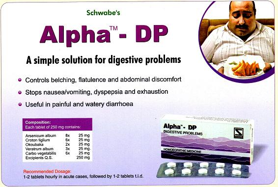 Alpha-DP for digestive problems