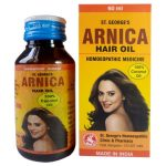 St. Georges Arnica Hair Oil based on 100% pure coconut oil
