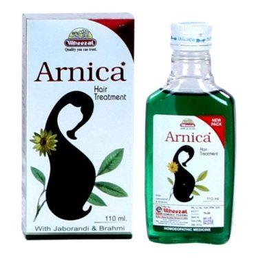 Wheezal Arnica Hair Treatment Oil with Jaborandi, Brahmi, Cantharis, China Q