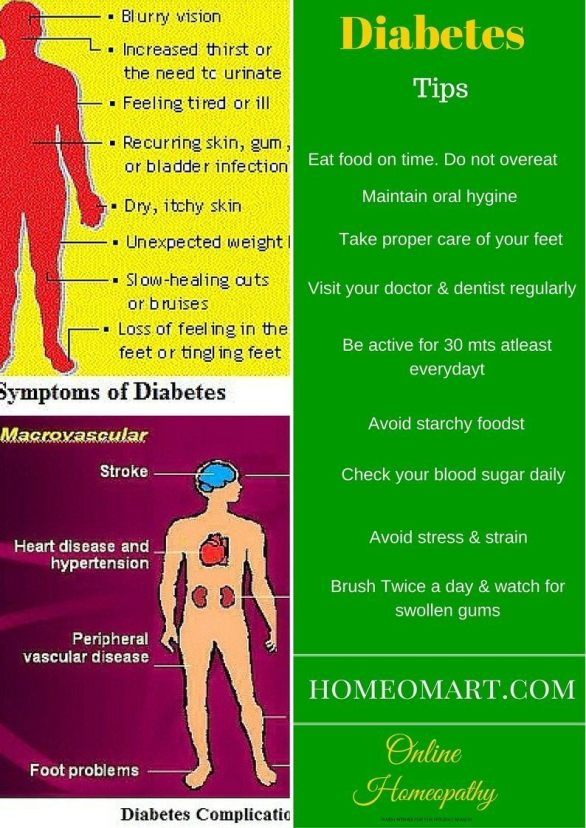 Diabetes Tips - Homeopathic remedies