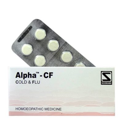 Homeopathy medicine Schwabe Alpha-CF tablets for Cold, Flu with body pain