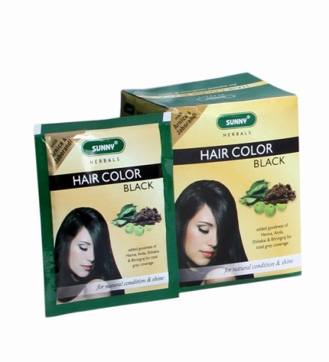 Bakson Herbal Black Hair Colour with Arnica, Amla, Shikakai, Bhrigraj. natural coloring and conditioning