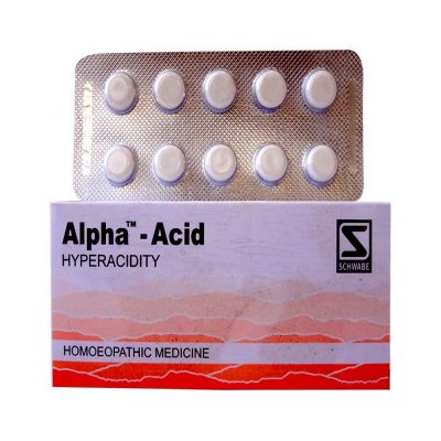 Schwabe Alpha Acid Tablets for Hyperacidity, Flatulence