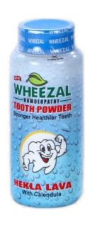 Wheezal Hekla Lava with Calendula Dental Care Tooth Powder