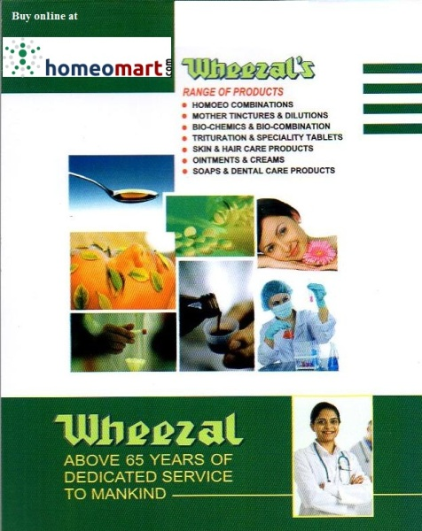 Wheezal Homeopathic products- complete catalogue