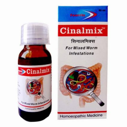Fourrts Cinalmix Syrup - Homeopathic worms medicine for tape worm, pin worm, hook worm and round worm infestation