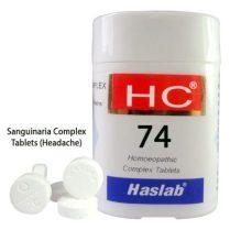 Haslab HC-74 Sanguinaria Complex Tablets for Headache