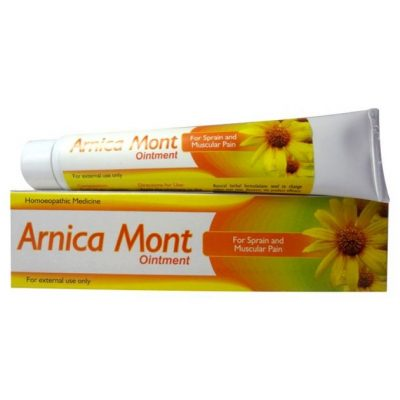 Homeopathic Arnica Mont Ointment for Sprain, Muscular pain