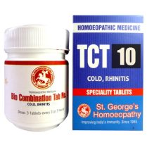 St George TCT 10 Homeopathic Tissue Complex Tablets for Cold, Rhinitis