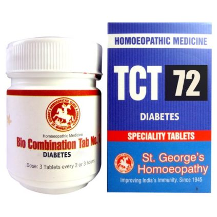 St George TCT 72 Homeopathic Tissue Complex Tablets for Diabetes