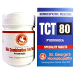 St George TCT 80 Homeopathic Tissue Complex Tablets for Pyorrhoea