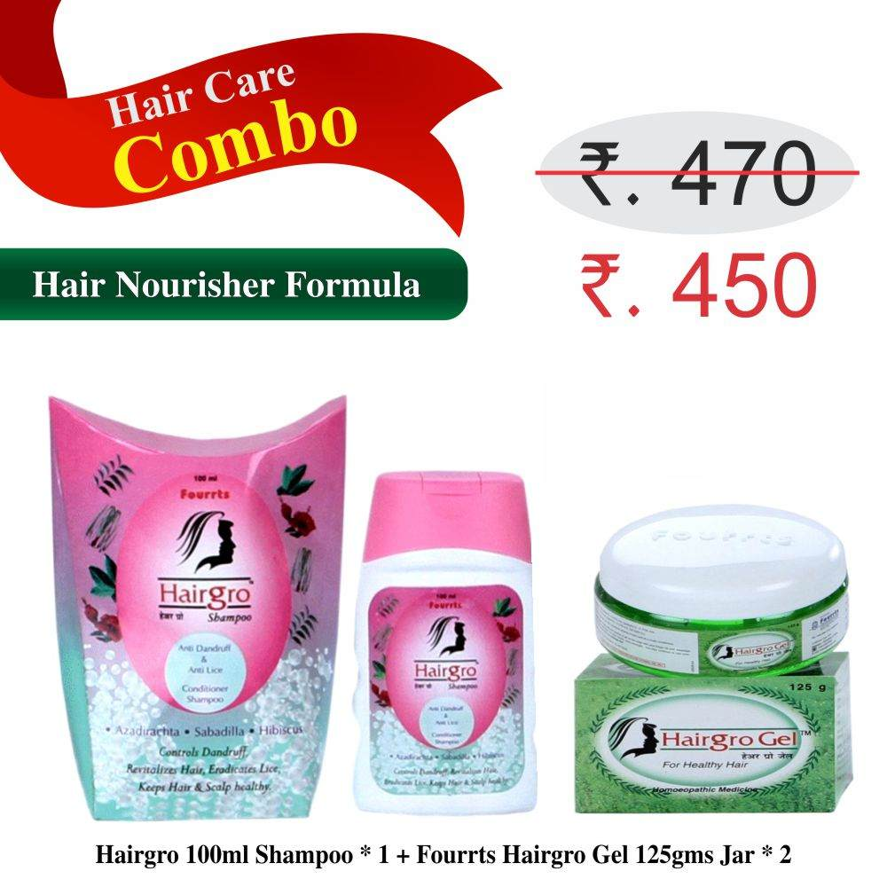 Hairgro shampoo and Gel for hair fall control, hair care nourishment