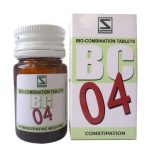 Schwabe Bioplasgen/Biocombination No. 4 Tablets for Constipation, irregular bowel movements