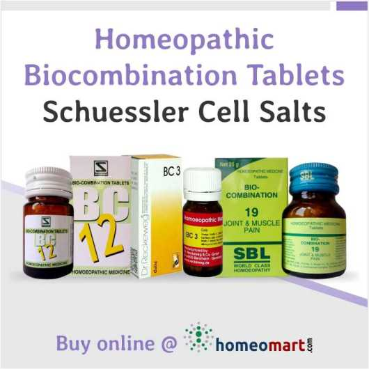 Bicombination Tablets BC 1-28 from Schwabe, Reckeweg, SBL. Homeopathic Schuessler Cell salt combinations