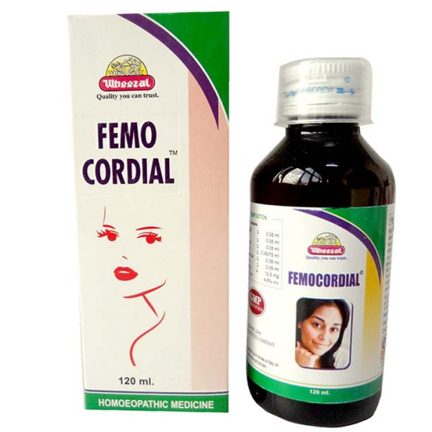 Wheezal Femocordial Syrup for Leucorrhoea, Premenstrual and Profuse Bleeding