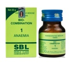 SBL Biocombination No.1 Tablets for Anaema, 25 gm