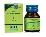 SBL Biocombination No.3 Tablets for Colic, 25gm